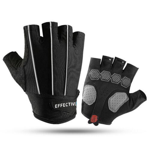 Bike Bicycle Cycling Half Finger Gloves Non-slip Gel Padded Sports Fingerless
