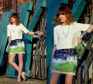 a2ba7805 Image is loading ZARA-SEQUIN-ELASTICATED-MINI-PARTY-SKIRT-SIZE-SMALL