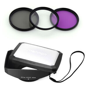 46mm-16-9-Wide-Lens-Hood-Filter-Kit-for-cameras-camcorder-NEW-free-US-shipping