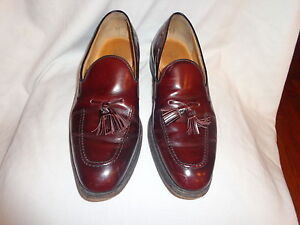 Austin Reed Of Regent Street Burgundy Leather Tassel Slip On Mens Shoes 10 5 M Ebay