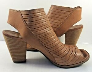 aea6bd707bd Image is loading Paul-Green-Brown-Leather-Sliced-Cayanne-Booties-Womens-