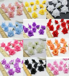 10-50PCS Fake Artificial Silk Flowers Head DIY Wedding Home Party decoration NEW