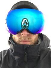 Snowboard Ski Goggles Frameless blue lenti specchiate da uomo Anon