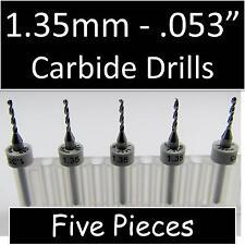 053 135mm Five Carbide Drill Bits Models Hobby Pcb Cnc Dremel Rs