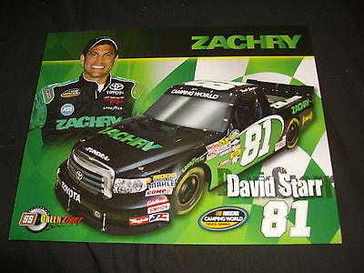 2011 DAVID STARR #81 ZACHARY VERSION 2 WITH ASE NASCAR POSTCARD