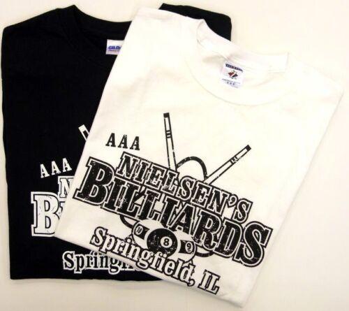 WHITE or BLACK Nielsen/'s Billiards T-Shirt