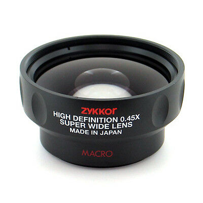 Zykkor HD Pro 0.45x Super Wide Angle 52mm 58mm Lens for Canon cameras,Japan made