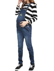 caldi della a denim di vita regolabili tuta bassa donne dei tuta del jeans Pantaloni maternità della complessive FxIXqdX
