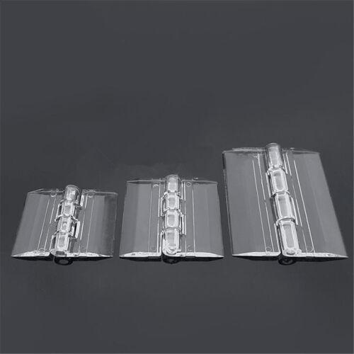 10PCS Durable Clear Acrylic Folding Hinges Transparent Plexiglass Hinge 5 Sizes
