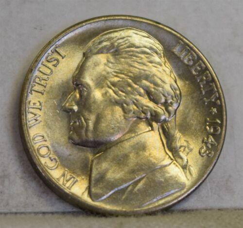 "1943-D *War Nickel* Jefferson Nickel /""Gem BU/"" *Free S//H After1st Item*"