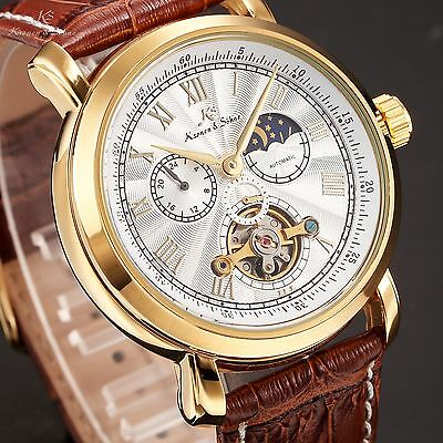 KS Mens 4 Colours Automatic Mechanical 45MM Case 24 Hours Moon Phase Wrist Watch