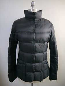 1f4db2558c04 Image is loading ADD-black-quilted-puffer-down-jacket-size-6-