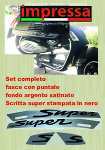 Adesivi Stickers Vespa GTS 300 250 125 Super Sport Parafango laterali decals