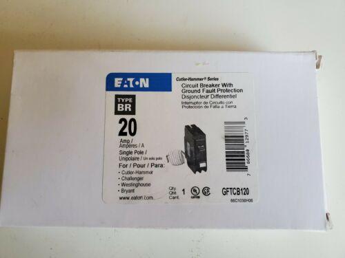 Eaton Cutler Hammer GFTCB120 GFTCB120CS Type BR 20a