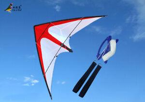 NEW-1-8m-70-In-Stunt-Surfing-Triangle-Delta-Kite-Outdoor-Fun-Sports-Dual-line