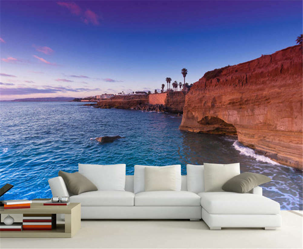 Looking Out Over Sea Full Wall Mural Photo Wallpaper Printing 3D Decor Kid Home