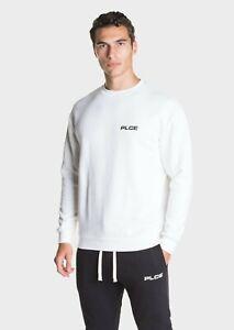 Police 883 Mens Crew Neck Long Sleeve Off White Sweatshirt Pullover Designer Top