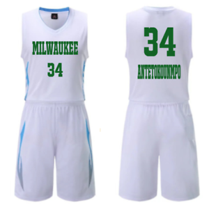 low priced 9efb3 5eb43 KIDS BOY YOUTH Giannis Antetokounmpo #34 BASKETBALL JERSEY W ...