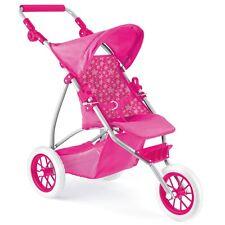 bébé poupées de luxe 3 ROUE CHARIOT POUSSETTE JOGGER landau filles jouet