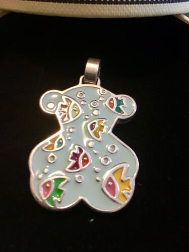 Beautifull Vintage Tous Silver Pendant With iconic