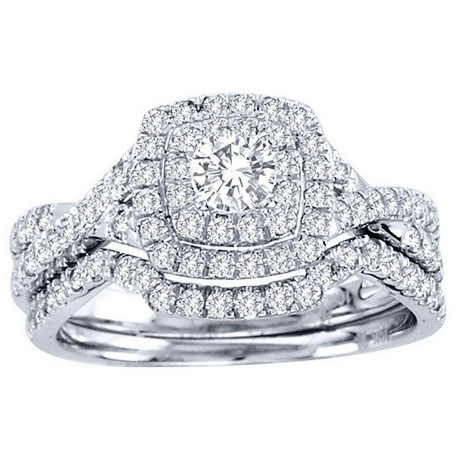 Ginger Lyne Collection Amara Exquisite Oval CZ Rose Gold Plated Wedding Ring Set