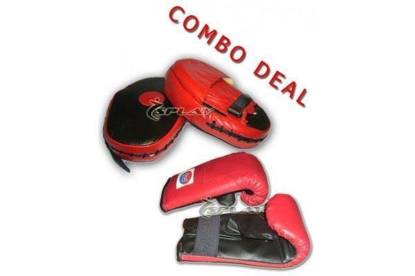 Splay Boxing Fokus Pads  + Sparing Handschuhe Kampf Mitts Schutzbeutel Muay  store