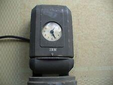 VINTAGE ART DECO  IBM TIME CLOCK WITH ORIGINAL STAND