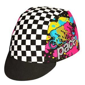 Pace Peloton Sport Cycling Bicycle Cap Hat Black X White
