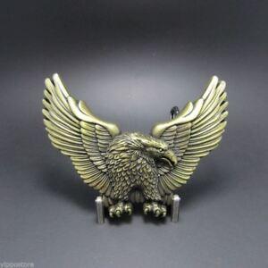 Glorieux Laiton Antique Western Eagle Métal Boucle De Ceinture-afficher Le Titre D'origine