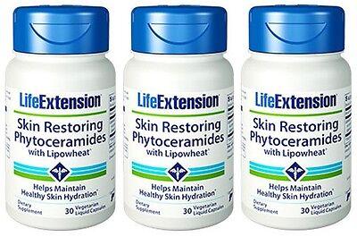 3 Bottles Skin Restoring Phytoceramides with Lipowheat - Life Extension - 30 VC