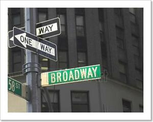 Image Is Loading Broadway Sign Art Print Home Decor Wall