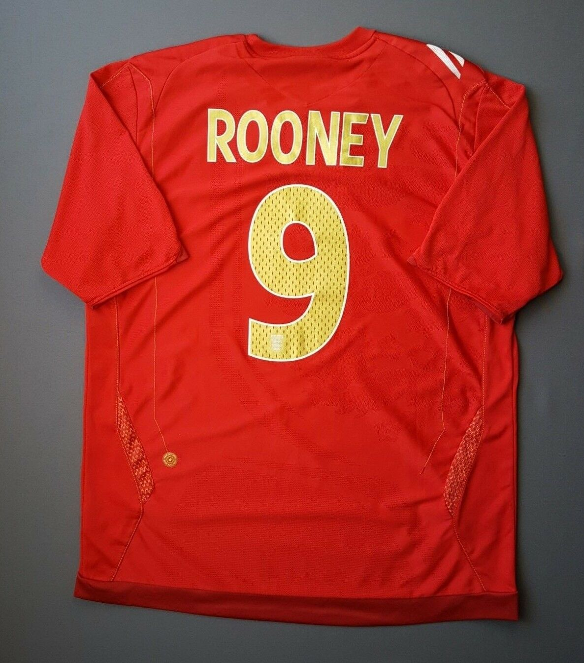 5 5 Rooney England soccer jersey 2006 2008 away shirt LARGE football Umbro
