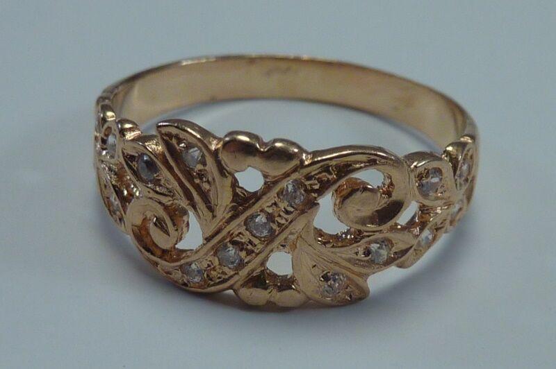 2.7 Gram 19.2k Yellow & White gold Ring,  Size 6 3 4