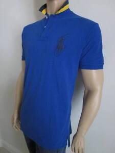Ralph Lauren BLUE CUSTOM FIT BIG PONY POLO SHIRT NWT L