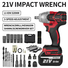 520nm 12 Electric Impact Wrench Cordless Gun Drill Driver With Li Ion Battery
