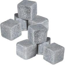 8 Stück Kühlsteine Kältesteine Steine im Samtbeutel Whiskey Whisky Stones Rocks