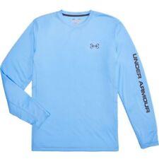 $65 Under Armour Fish Hunter SS Fishing Mens Sz MEDIUM Grey Shirt 1290745-035