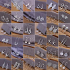 Wholesale Women 925 Sterling Silver Ear Stud Earrings Cheap Crystal Jewelry Hot