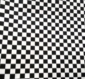 Black-and-White-Small-Checkered-Fabric-Poly-cotton-60-034-50s-Party-Racing-Flag-BTY