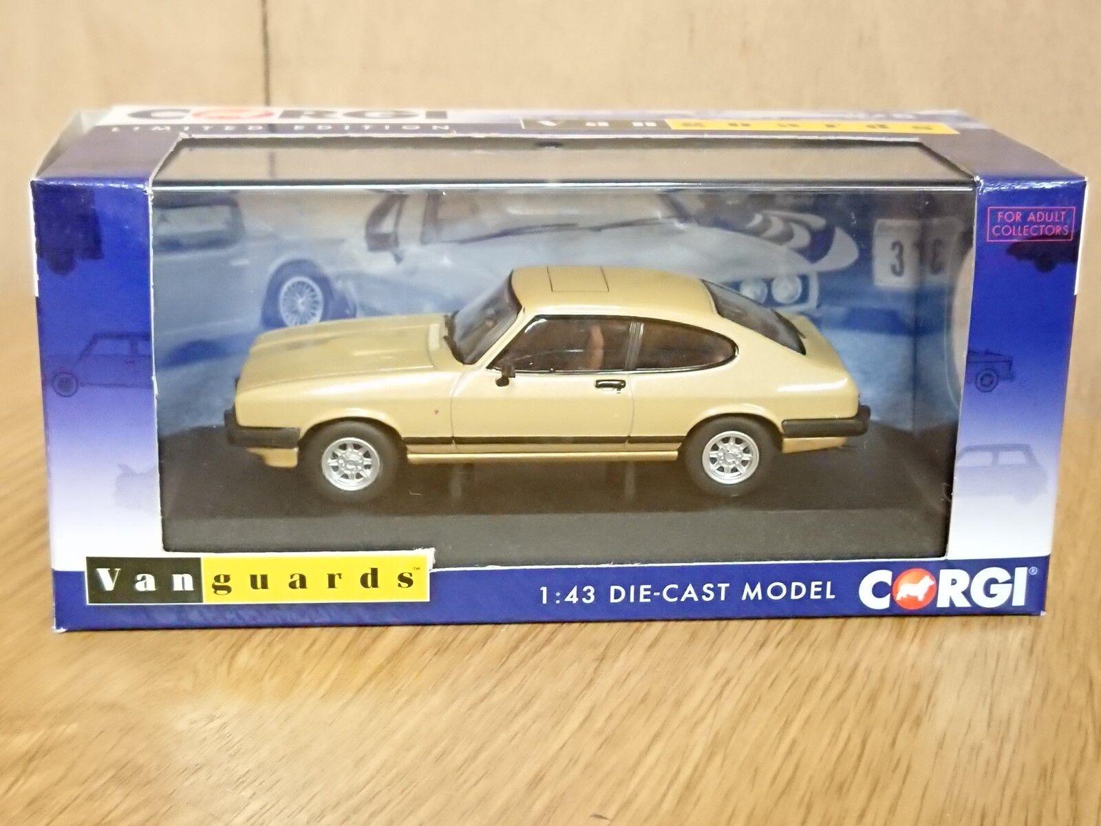 Corgi VA10814 Ford Capri Mk3 3.0 Ghia Oyster gold RHD Ltd Ed. No. 0002 of 1500