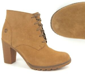 Timberland-Women-039-s-Tillston-High-Heel-Wheat-Yellow-Chukka-Boots-Shoes-A1KJ6-NEW