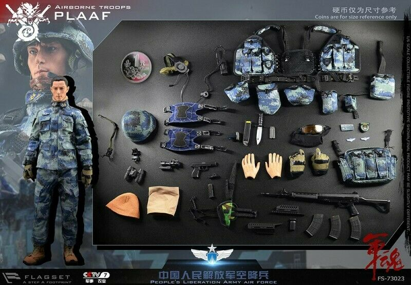 FLAGSET FS-73023 1 6 Soldier Army Soul Series PLAAF Airborne Male Figure Toys