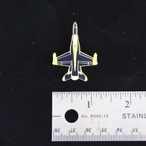 US Navy Blue Angels F-18 Hornet Top View Hat Pin