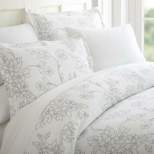 Hotel Collection Premium 3 Piece Vine Patterned Duvet Cover Set