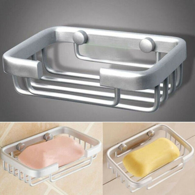 Space Aluminum Alloy Wall Mounted Bath Shower Soap Dishes Storage Shelf Holder Z