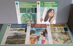 lot of 5 vintage mid century painting books art instruction how to