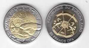 BURKINA-FASO-BIMETAL-50-FRANCS-CFA-UNC-2017-YEAR-TURTLE