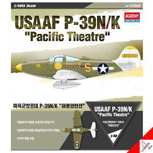 Academy-1-48-USAAF-P-39N-K-034-Pacific-Theatre-034-Hobby-Plastic-model-kit-12333