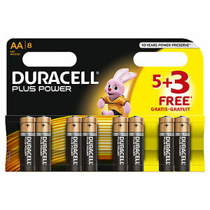 Duracell-MN1500-Plus-Power-Alkaline-Battery-AA-Size-3-Packs-5-3-Free-8-Pack