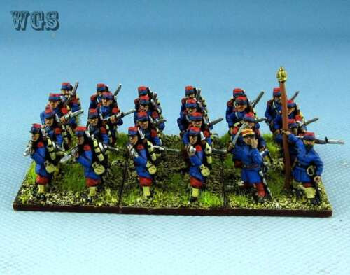 Prussian War painted French Early Infantry PFA008 15mm Franco 24 figures